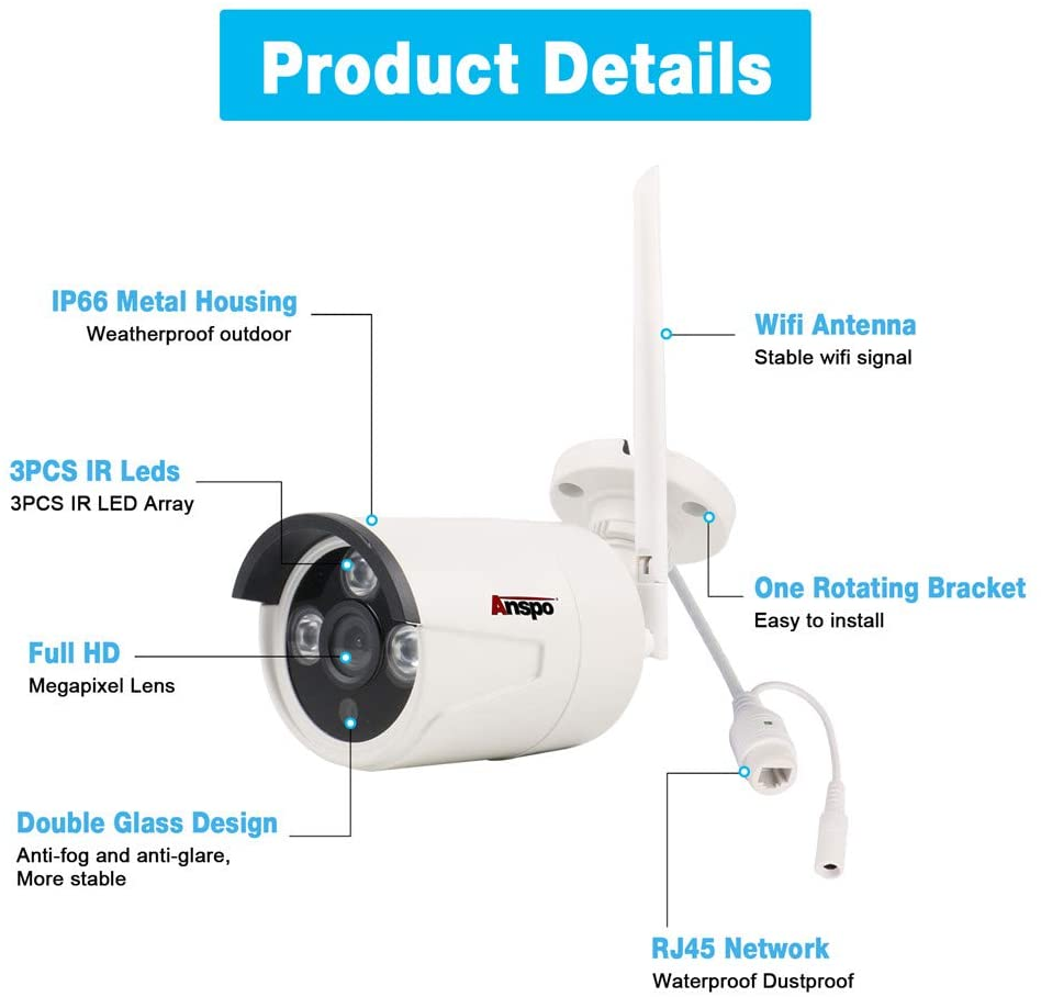 Image result for Anspo Wifi IP Camera