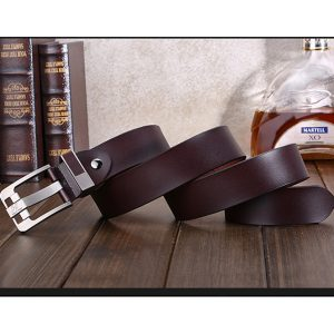 Haut-Ton Coffee Brown Genuine Leather Belt Ghulio