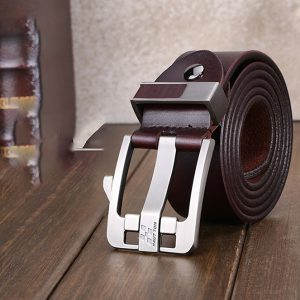 Haut-Ton Coffee Brown Genuine Leather Belt Nairobi