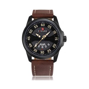 Naviforce 9124 Military Leather Waterproof Wristwatch Ghulio