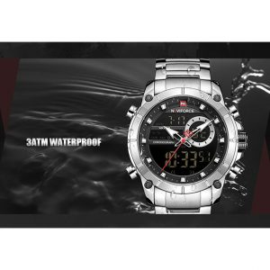Naviforce 9163 Waterproof Dual Display Date Clock Relogio Masculino Watch Kenya