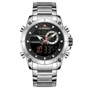 Naviforce 9163 Waterproof Dual Display Date Clock Relogio Masculino Watch ghulio