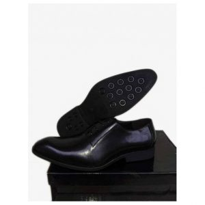 Sos Black Leather Wingtip Ghulio