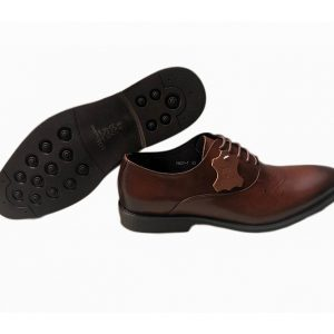 Sos Dark Tan Lace Up Leather Shoe ghulio