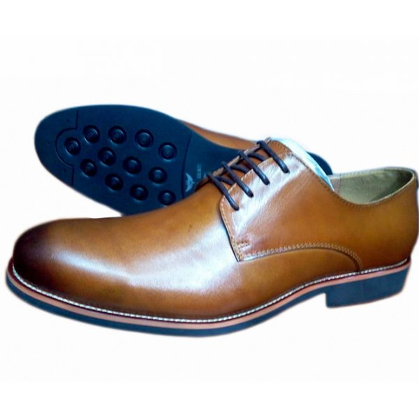 Sos Light Tan Oxford Wingtip Shoe