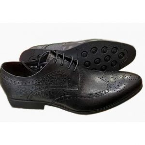 Sos Pure Leather Black Wingtip Oxford Ghulio