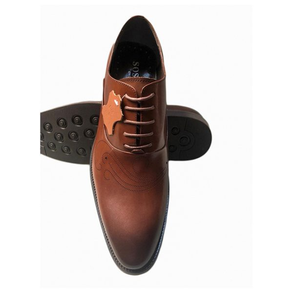 Sos Tan Brown Leather Shoes ghulio